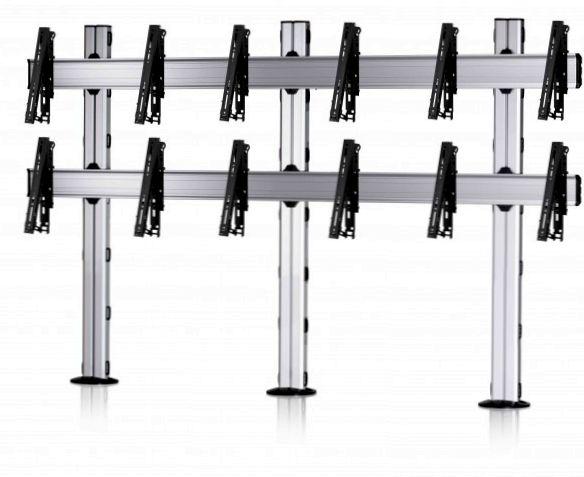 6 Displays 2×3, für große Bildschirme, multifunktioneller VESA, zur Bodenbefestigung