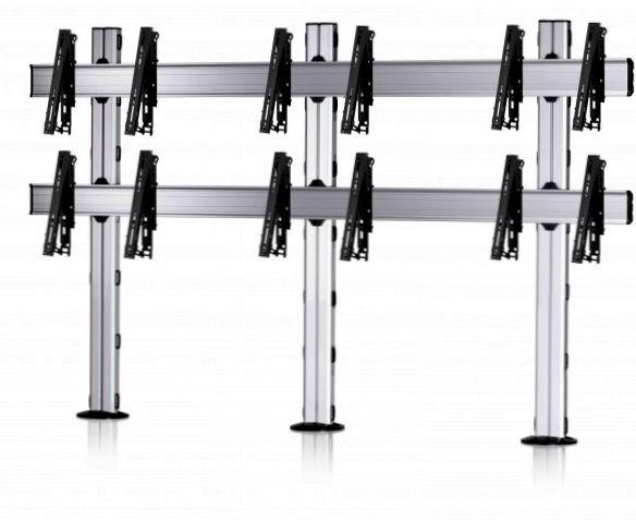 6 Displays 2×3, multifunktioneller VESA, zur Bodenbefestigung