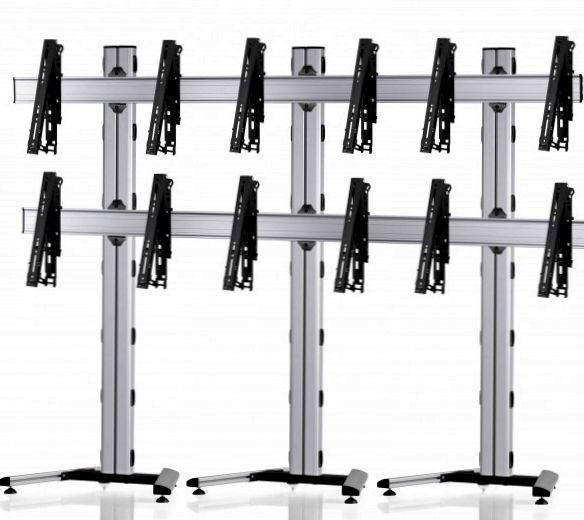 6 Displays 2x3, für große Bildschirme, multifunktioneller VESA, auf Standfuß