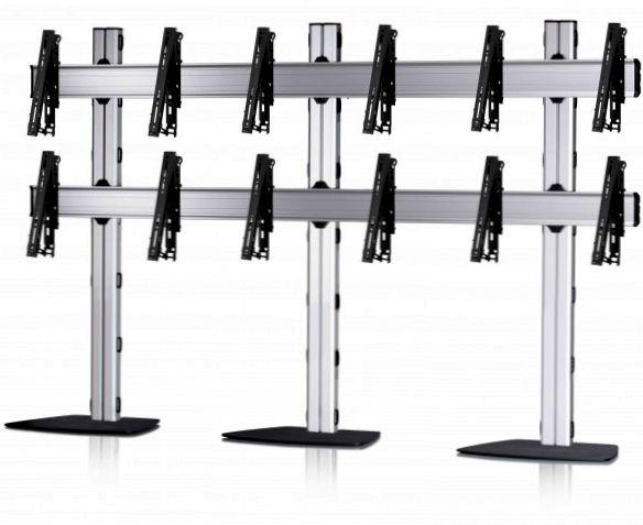 6 Displays 2x3, für große Bildschirme, multifunktioneller VESA, mit Standfuß