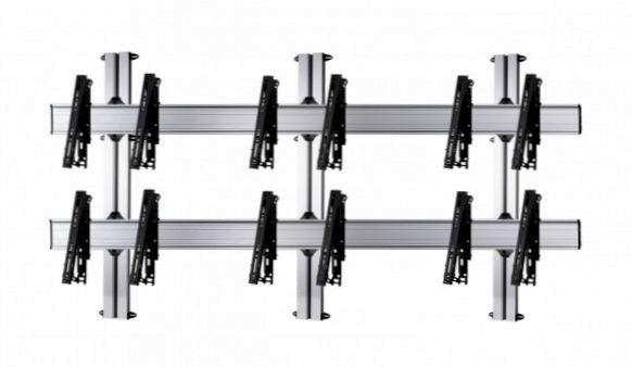 6 Displays 2×3, multifunktioneller VESA, zur Wandbefestigung
