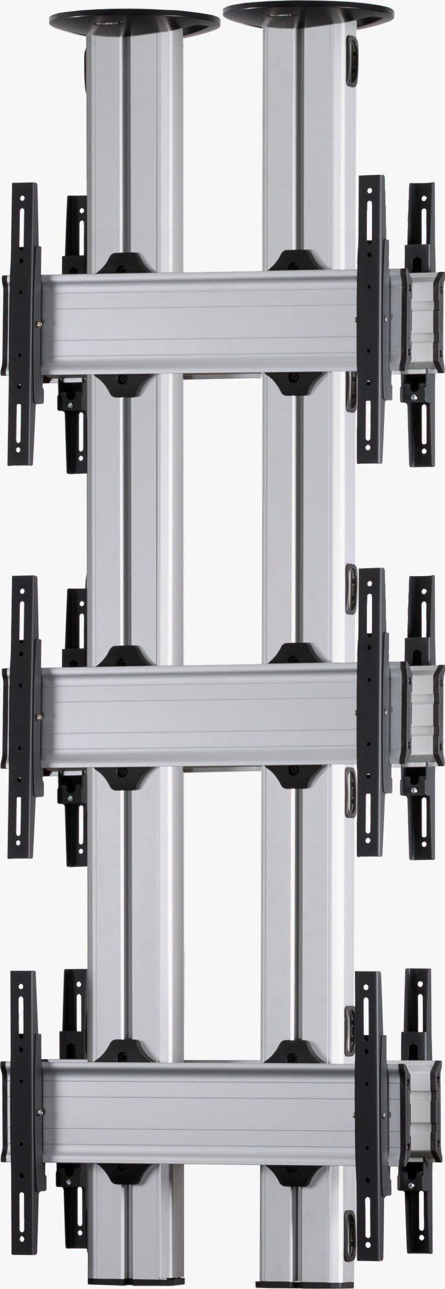 6 Displays 3x1 beidseitig, für große Bildschirme, Standard-VESA, zur Deckenbefestigung