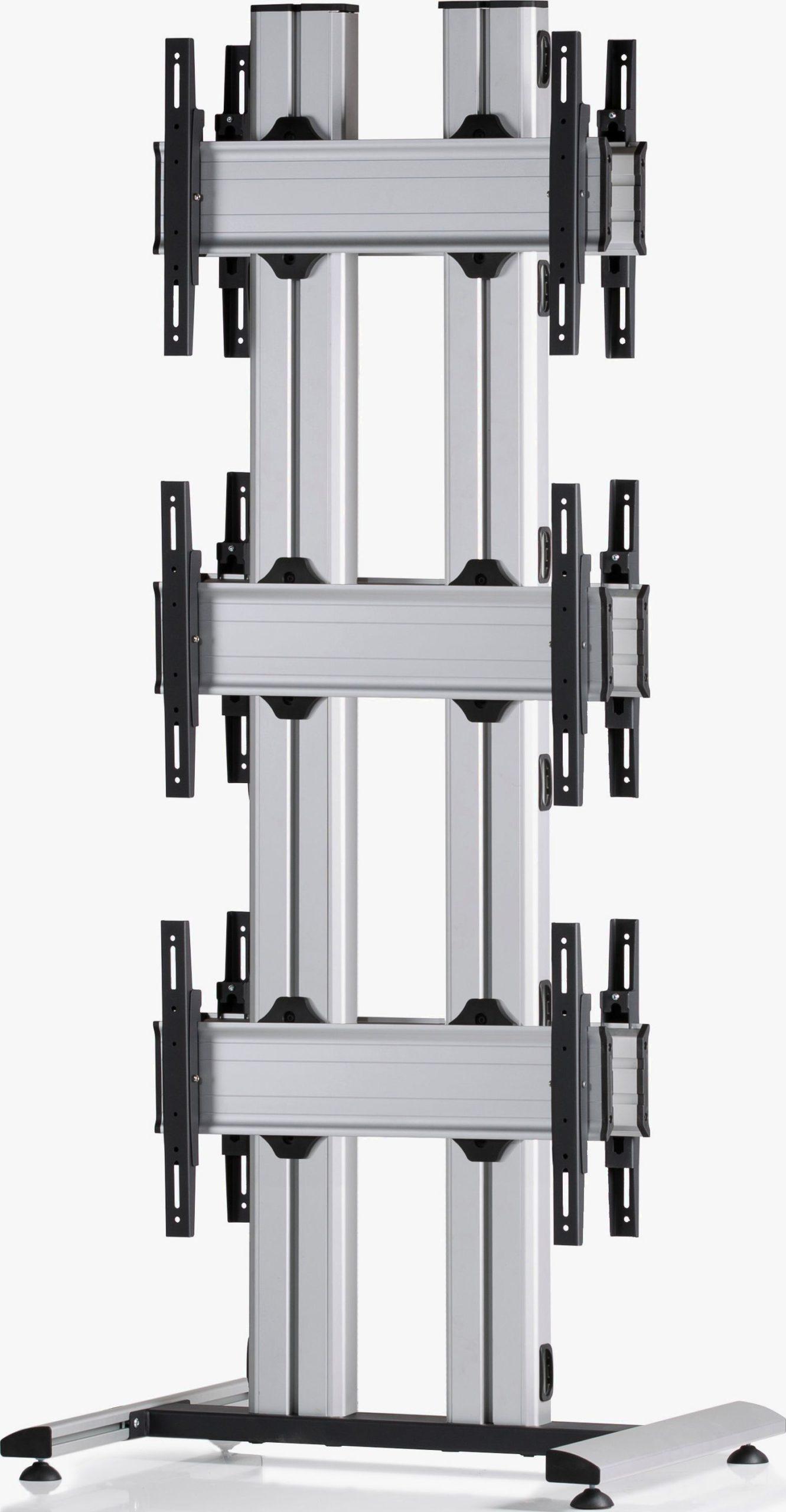 6 Displays 3x1 beidseitig, für große Bildschirme, Standard-VESA, auf Standfuß
