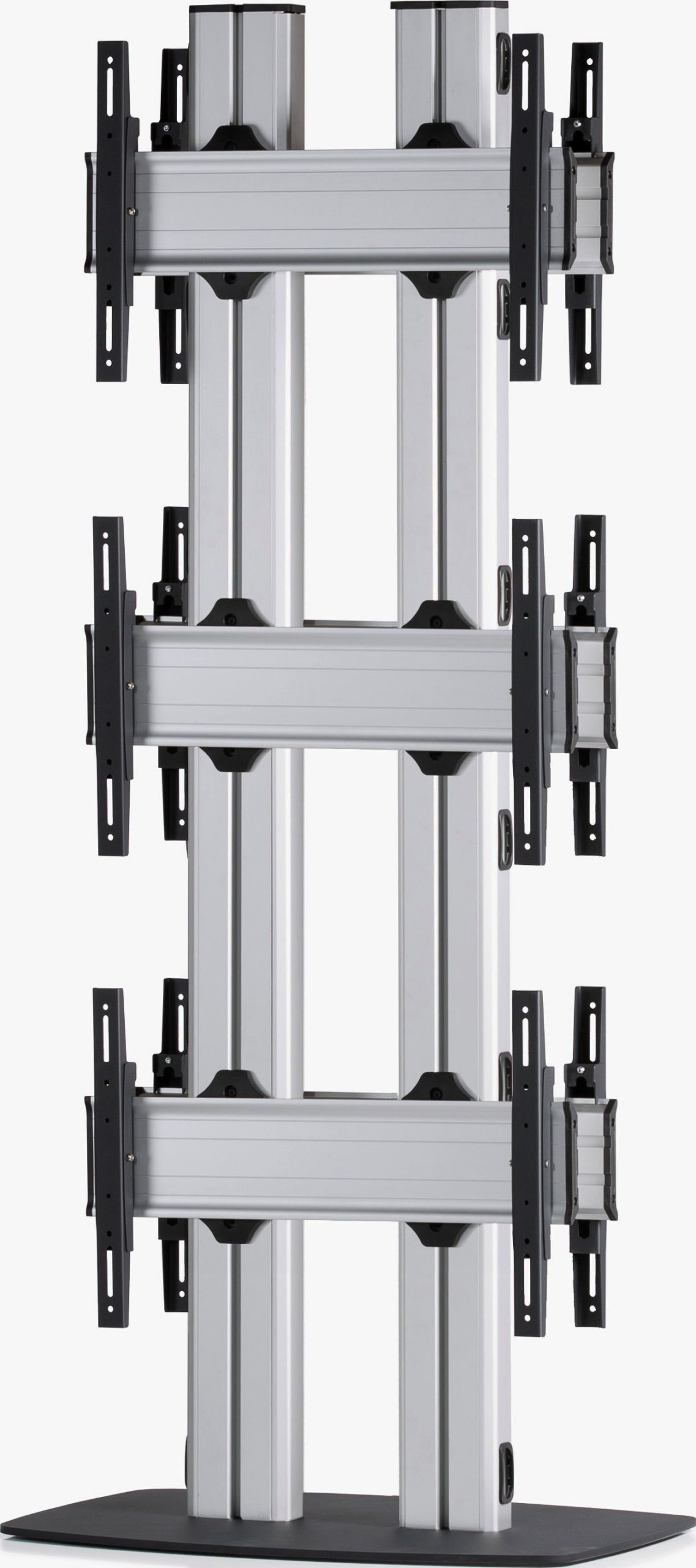 6 Displays 3x1 beidseitig, für große Bildschirme, Standard-VESA, mit Standfuß