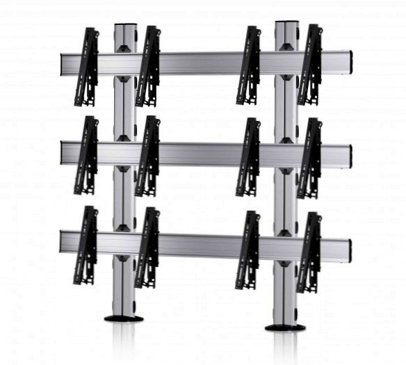 6 Displays 3×2, multifunktioneller VESA, zur Bodenbefestigung