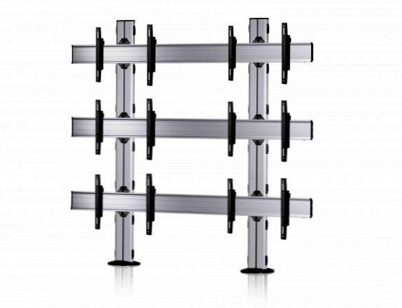 6 Displays 3×2, Standard-VESA, zur Bodenbefestigung