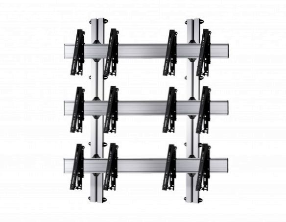 6 Displays 3×2, für große Bildschirme, multifunktioneller VESA, zur Wandbefestigung