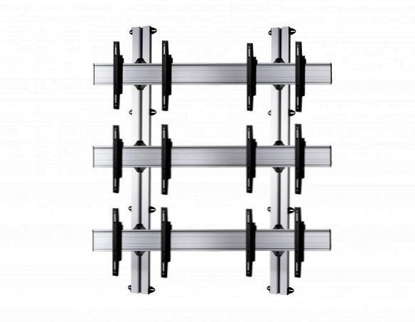 6 Displays 3×2, für große Bildschirme, Standard-VESA, zur Wandbefestigung