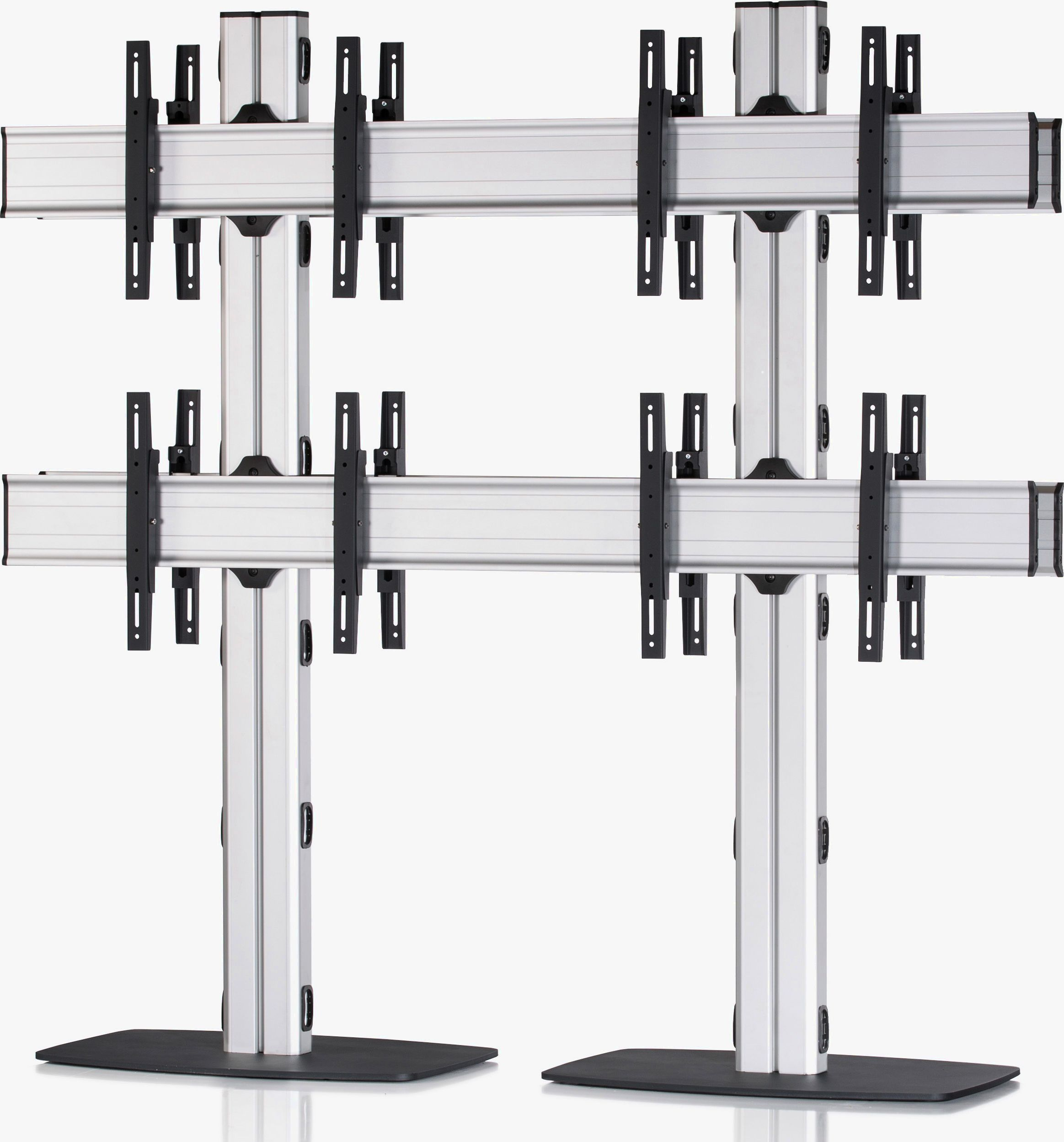 8 Displays 2x2 beidseitig, Standard-VESA, mit Standfuß