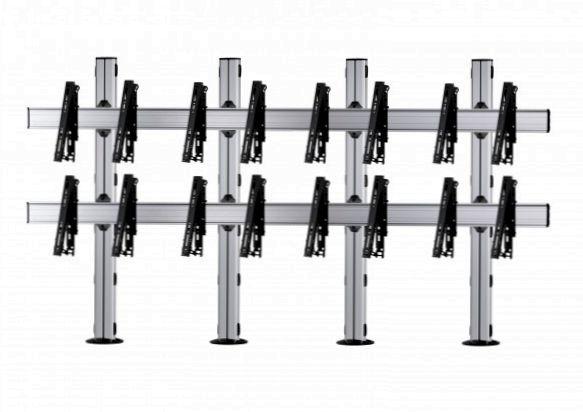 8 Displays 2×4, für große Bildschirme, multifunktioneller VESA, zur Bodenbefestigung