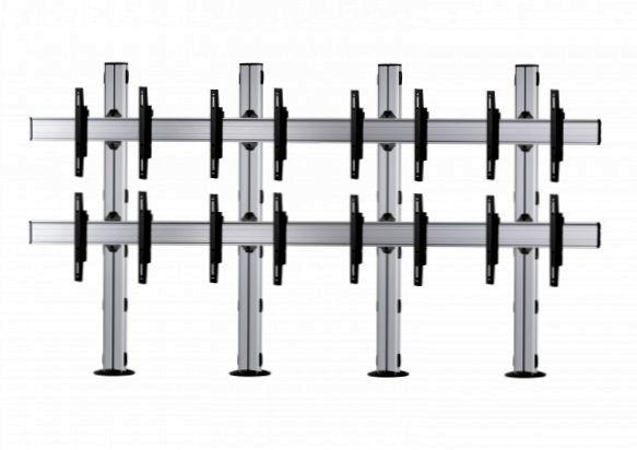 8 Displays 2×4, für große Bildschirme, Standard-VESA, zur Bodenbefestigung