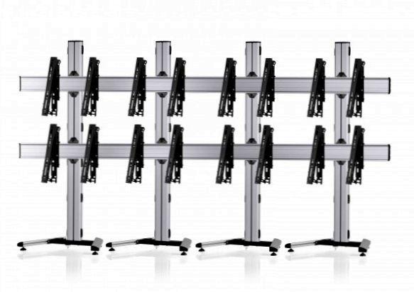 8 Displays 2x4, multifunktioneller VESA, auf Standfuß