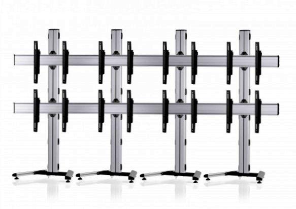 8 Displays 2x4, Standard-VESA, auf Standfuß