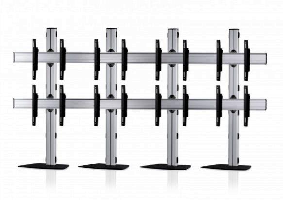 8 Displays 2x4, für große Bildschirme, Standard-VESA, mit Standfuß