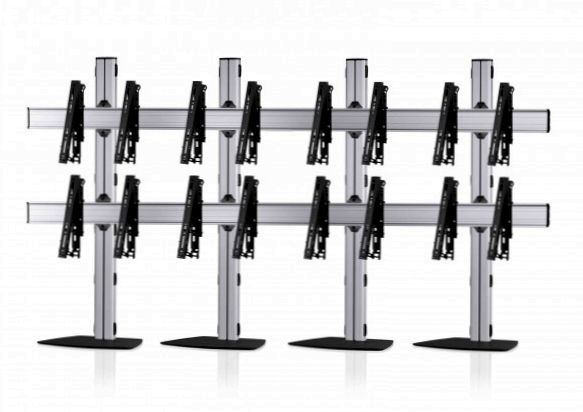 8 Displays 2x4, multifunktioneller VESA, mit Standfuß