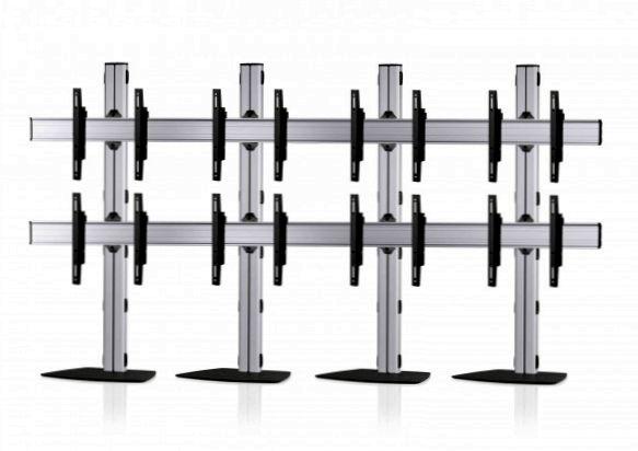 8 Displays 2x4, Standard-VESA, mit Standfuß
