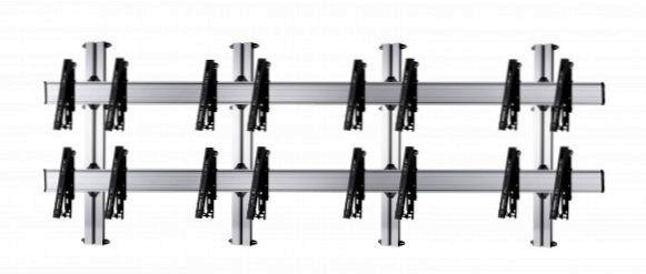 8 Displays 2×4, für große Bildschirme, multifunktioneller VESA, zur Wandbefestigung