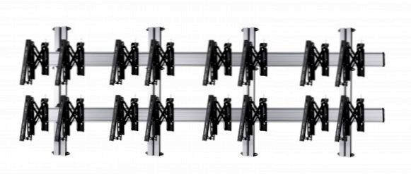 8 Displays 2×4, für große Bildschirme, Teleskop-VESA, zur Wandbefestigung