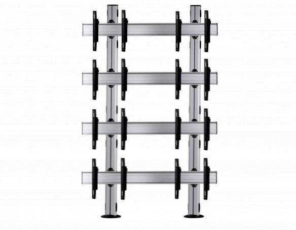 8 Displays 4×2, Standard-VESA, zur Bodenbefestigung