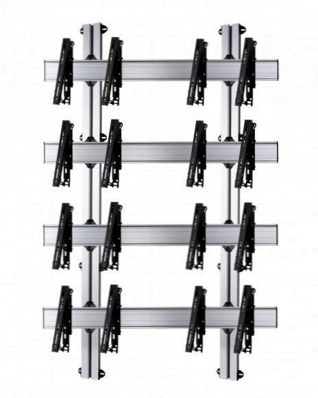 8 Displays 4×2, multifunktioneller VESA, zur Wandbefestigung