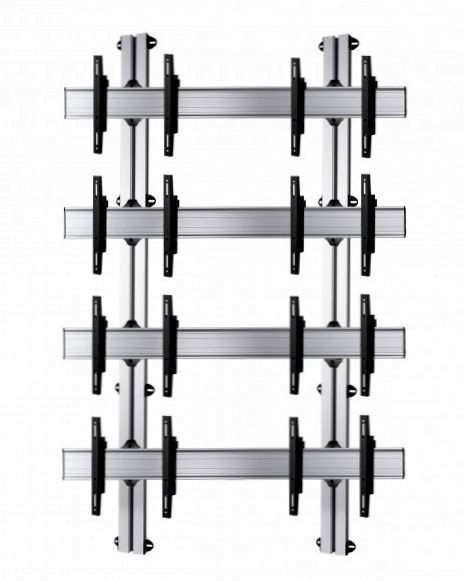 8 Displays 4×2, Standard-VESA, zur Wandbefestigung