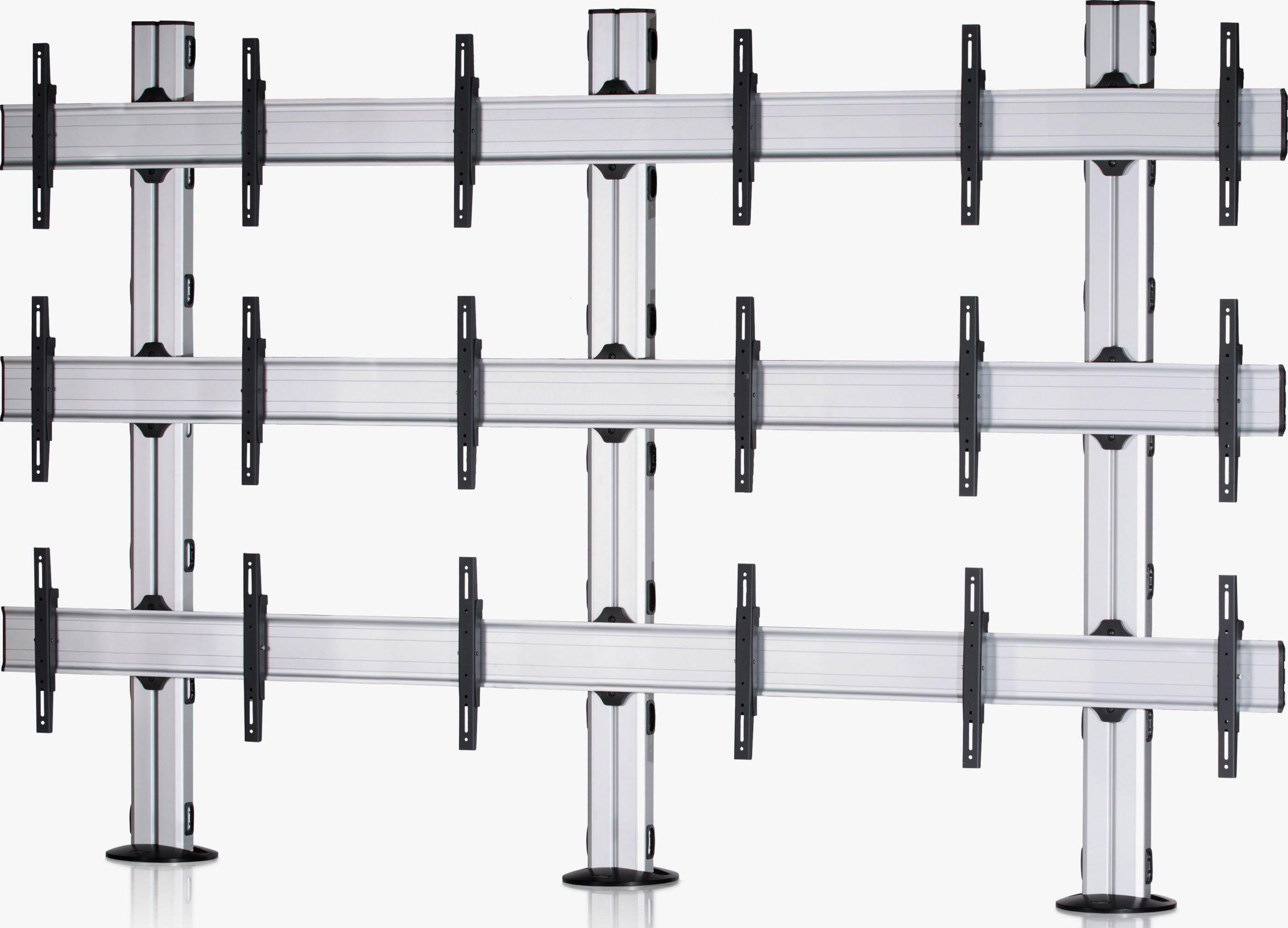 9 Displays 3×3, für große Bildschirme, Standard-VESA, zur Bodenbefestigung