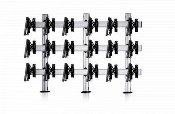 9 Displays 3×3, für große Bildschirme, Teleskop-VESA, zur Bodenbefestigung