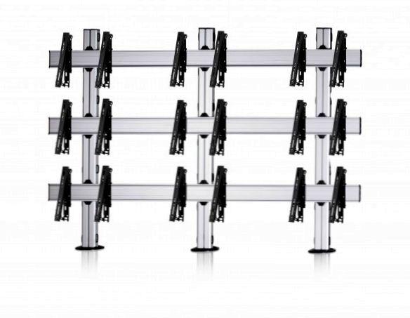 9 Displays 3×3, multifunktioneller VESA, zur Bodenbefestigung