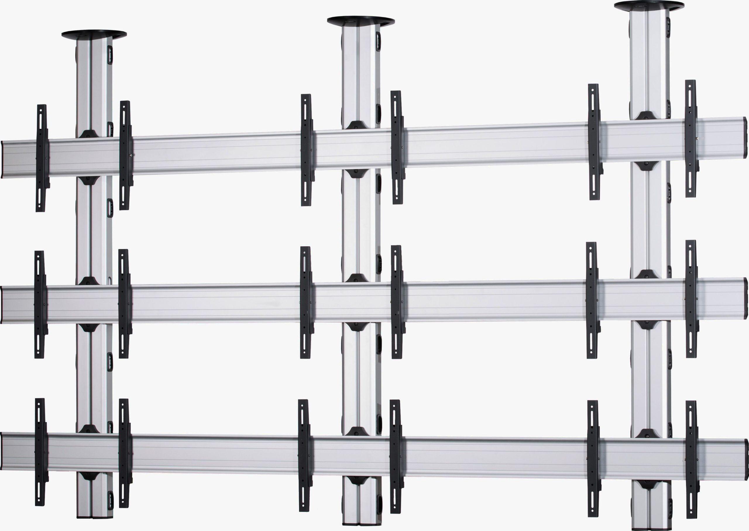 9 Displays 3×3, Standard-VESA, zur Deckenbefestigung