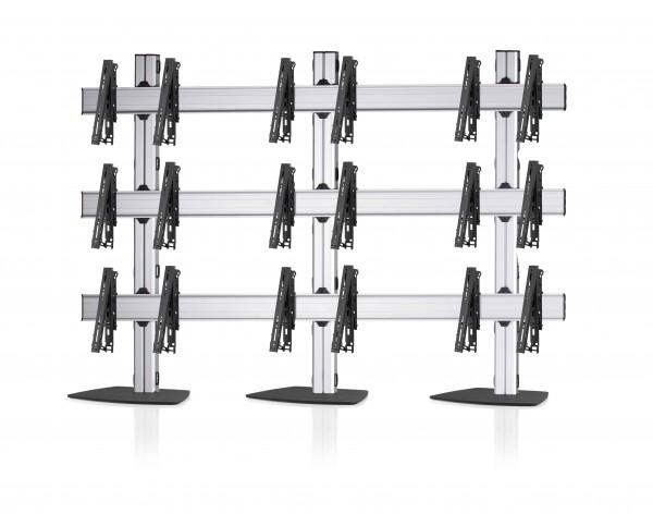 9 Displays 3×3, multifunktioneller VESA, mit Standfuß