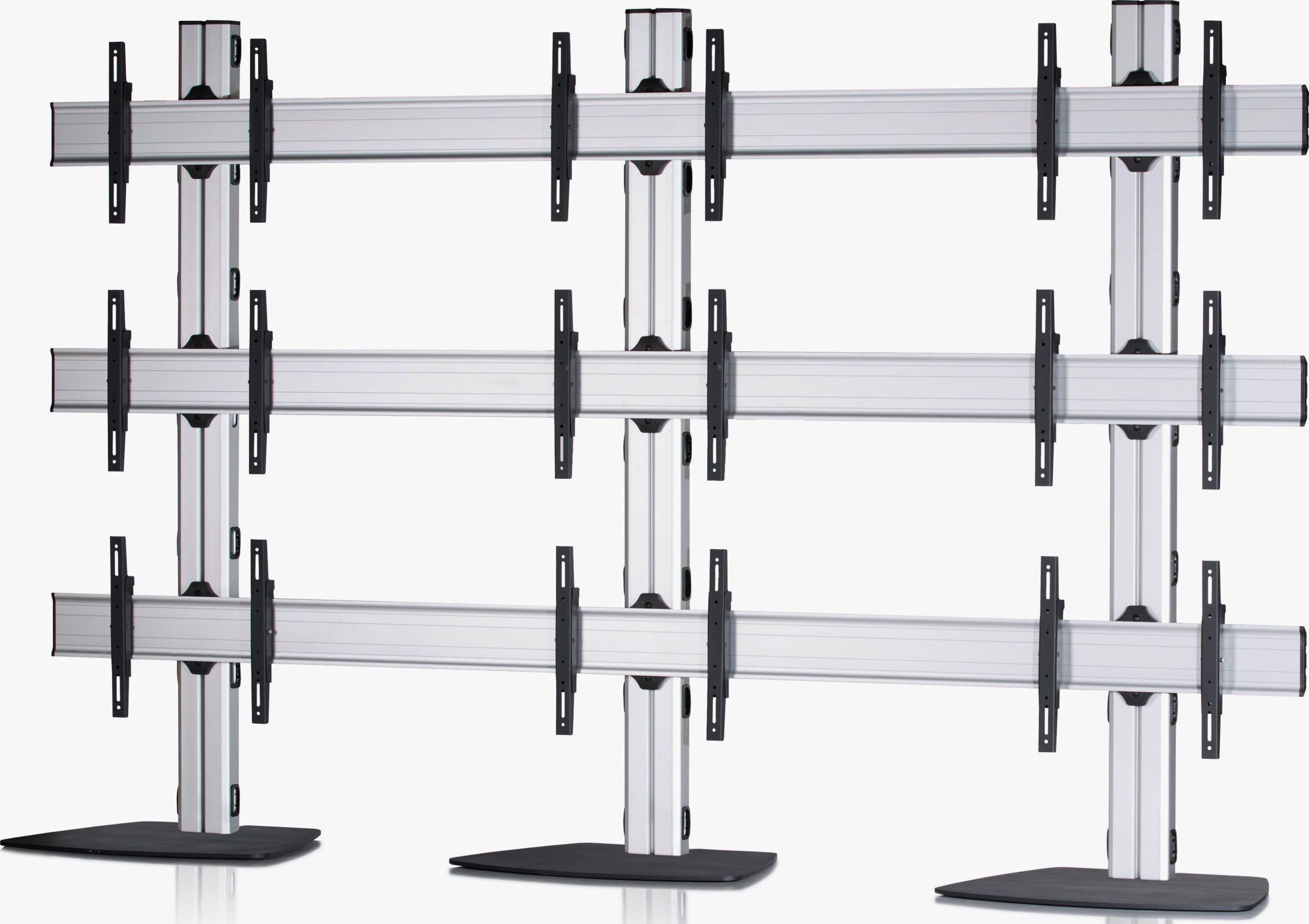 9 Displays 3×3, Standard-VESA, mit Standfuß