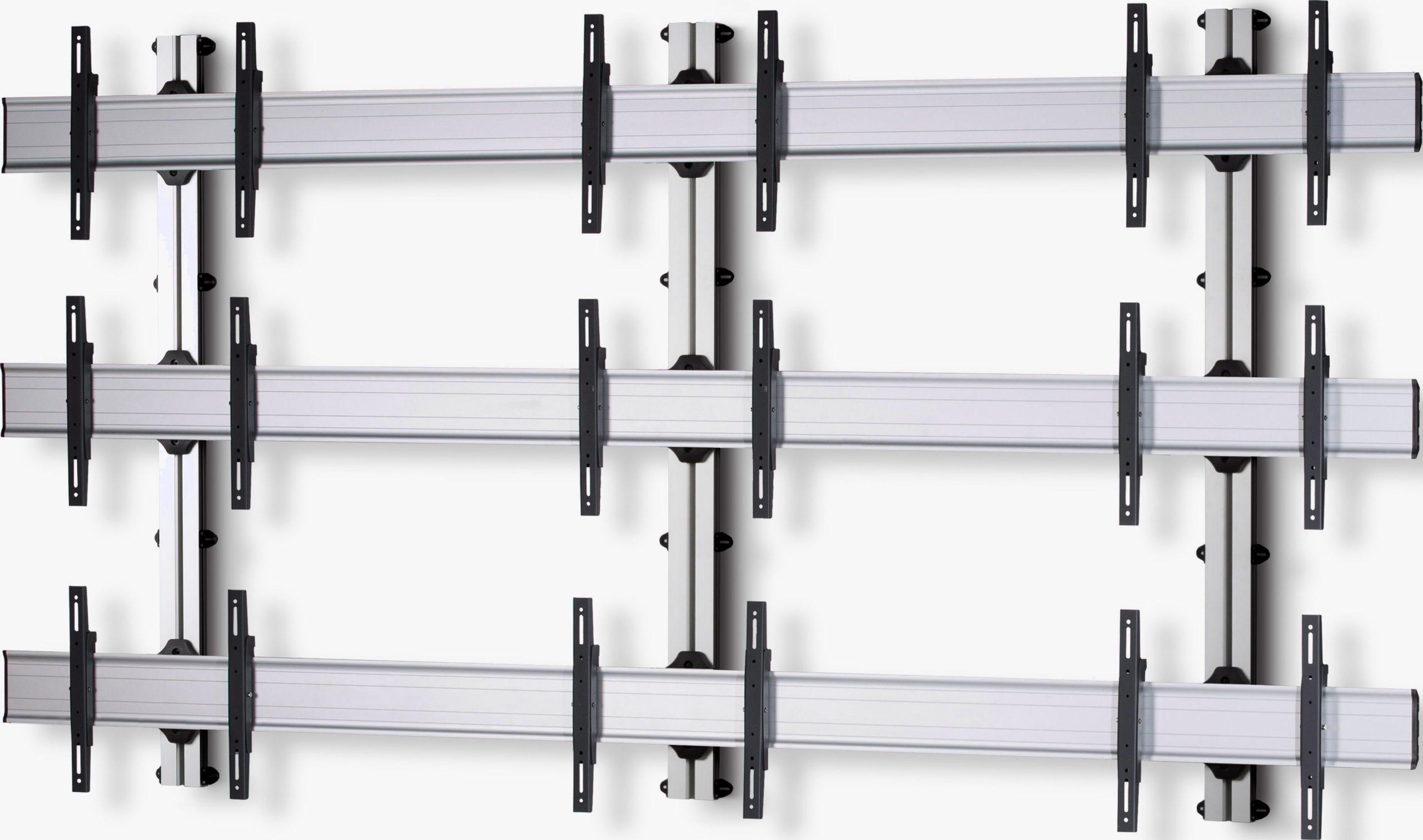 9 Displays 3×3, Standard-VESA, zur Wandbefestigung